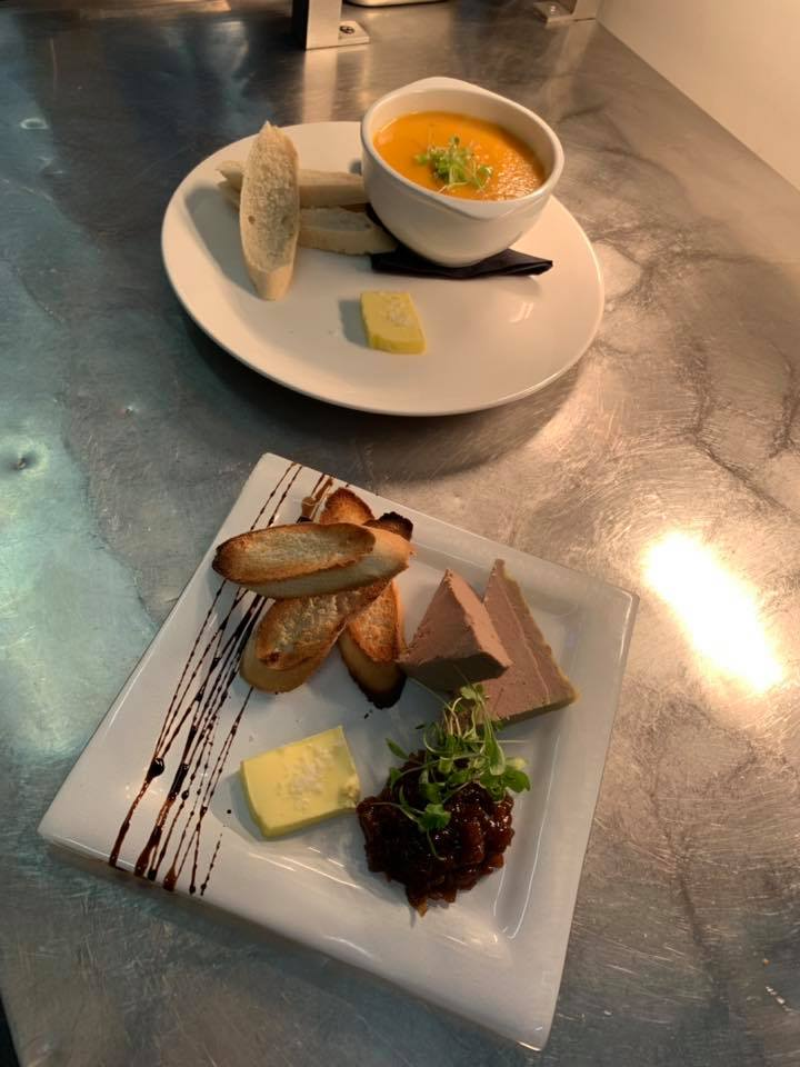 soup and pate at the strathaven bar in strathaven