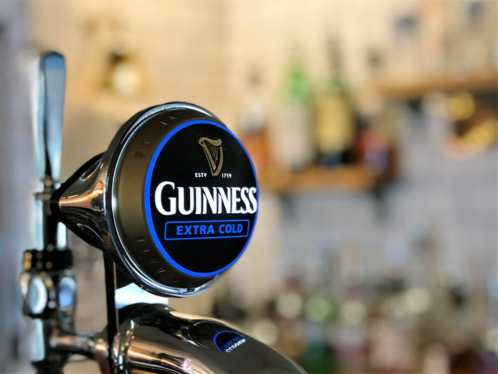 guinness tap at the strathaven bar in strathaven