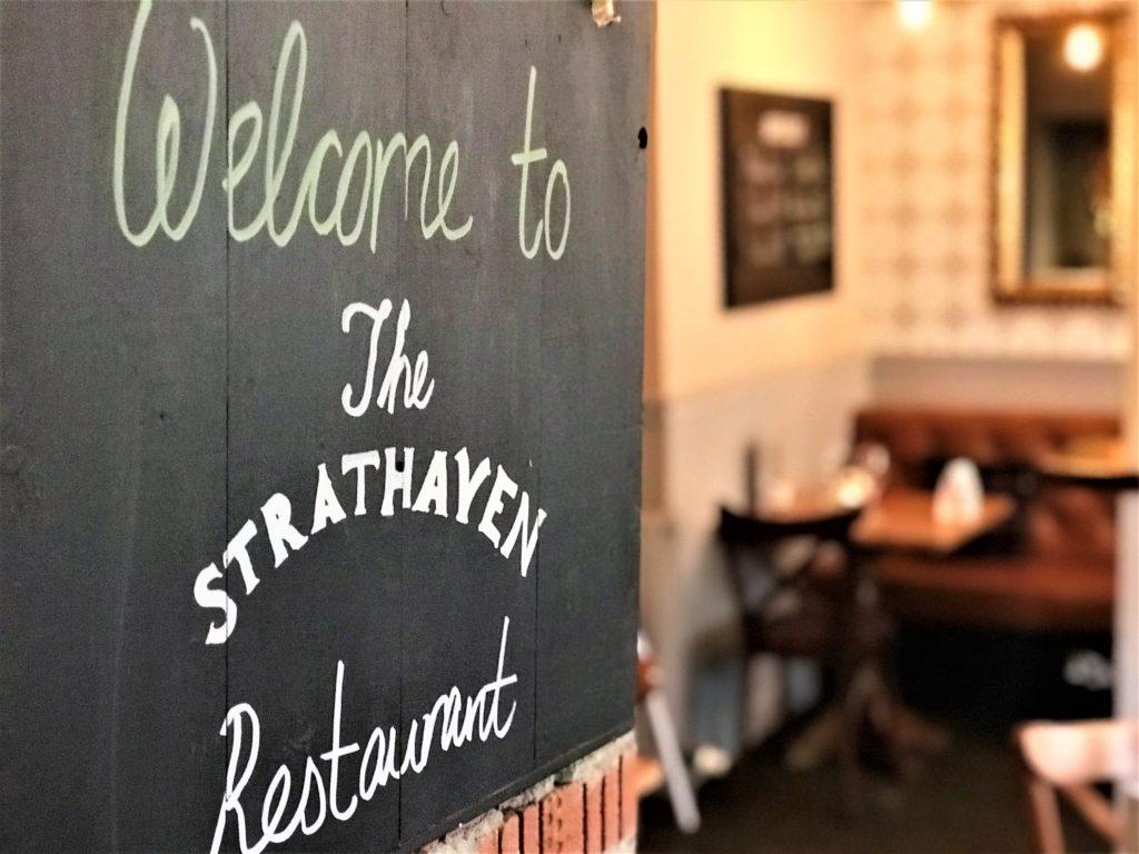 refurbished bar interior at the strathaven bar in strathaven