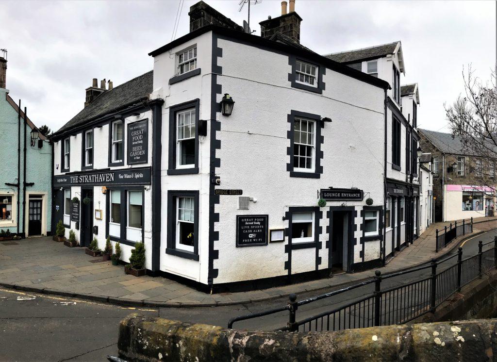 refurbished bar exterior at the strathaven bar in strathaven